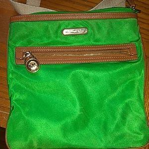 Green Michael Kors crossbody bag